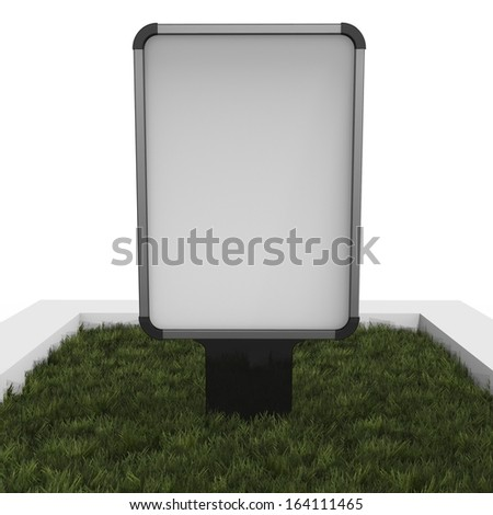 Outdoor advertising display, isolated on white background - stock photo