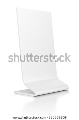 Outdoor advertising POS POI stand banner or desktop nameplate isolated on white background.