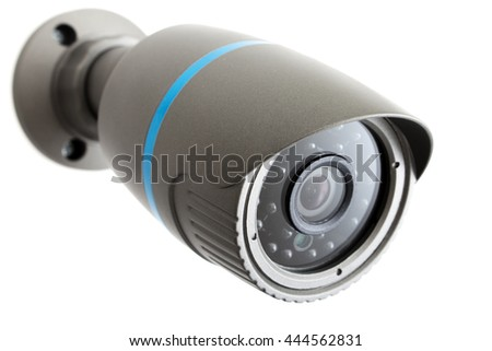 Outdoor and waterproof ip security surveillance video camera isolated on white background