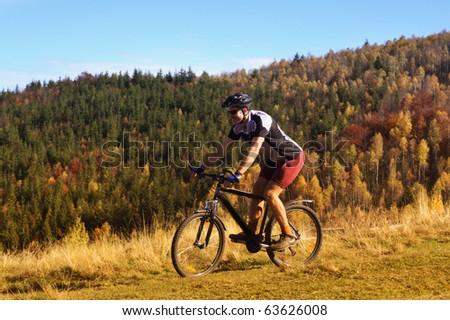 outdoor autumn bike riding