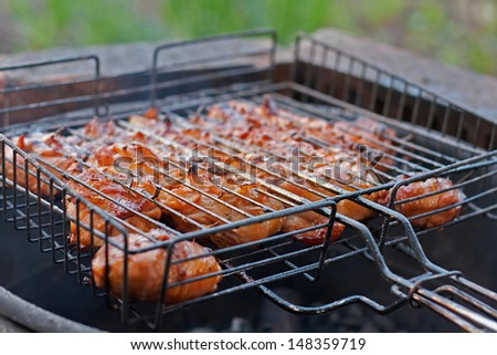 Outdoor barbecue in the garden
