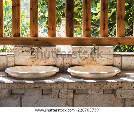 outdoor basin - stock photo
