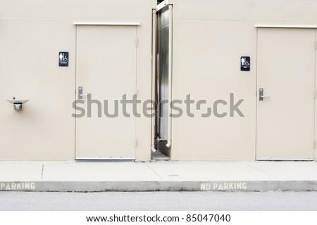 outdoor bathroom/toilets - stock photo