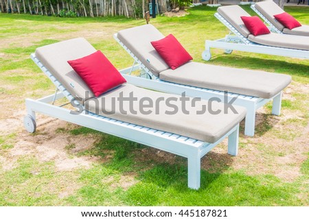 Outdoor beach chair and pillow