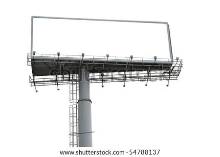 Outdoor billboard isolated background - stock photo