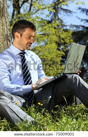 outdoor business - stock photo