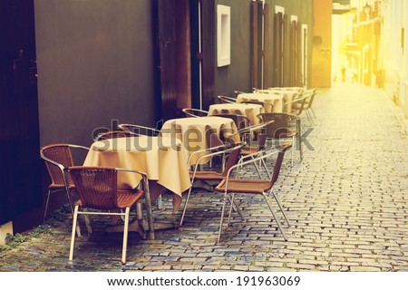 Outdoor Cafe - stock photo