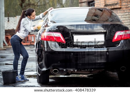 Girl At Carwash
