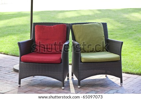 Outdoor Chairs - stock photo