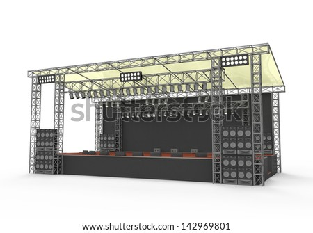 Outdoor Concert Stage - stock photo