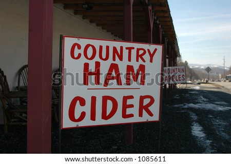 Outdoor country store sign - stock photo