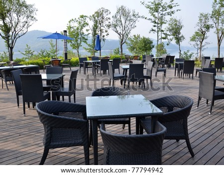 Outdoor dining - stock photo