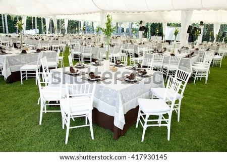 outdoor event or wedding reception - stock photo