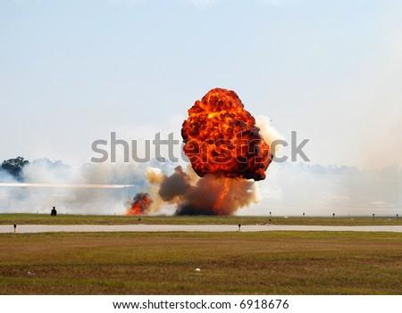 Outdoor explosion - stock photo