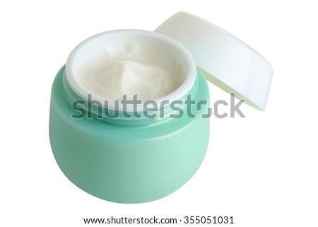 outdoor face cream isolated on white background