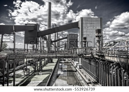 "Outdoor facility of the ""Zeche Zollverein"" in Essen-Germany. The closed coke oven plant is world heritage site."