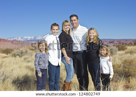 Outdoor Family Portrait - stock photo