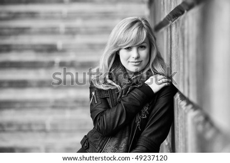 Outdoor Fashion Portrait - stock photo