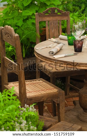 Outdoor food place - stock photo