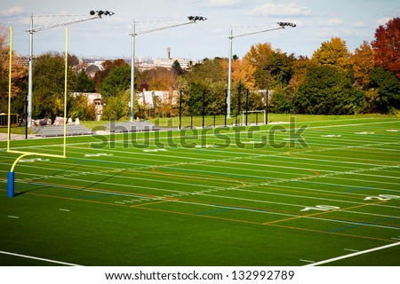 Outdoor Football field in a public park - stock photo