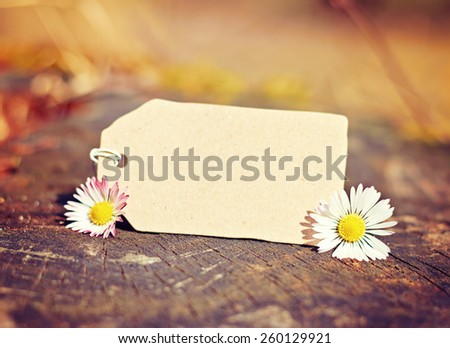 outdoor greeting card with text - stock photo