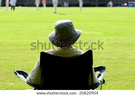 outdoor image of cricket supporter - stock photo