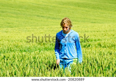 outdoor image of girl in nature - stock photo