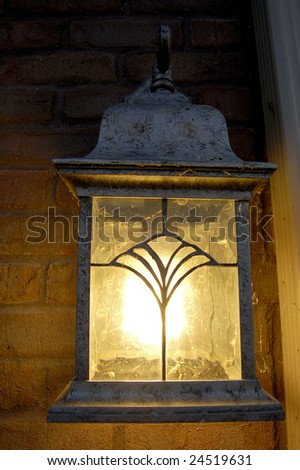outdoor lamp - stock photo