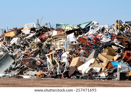 Outdoor Landfill/Scrapyard (landfill, junkyard)  - stock photo