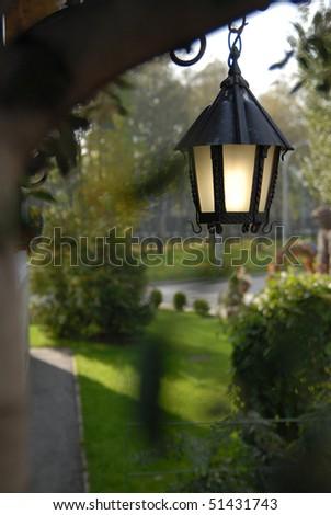 outdoor lantern - stock photo