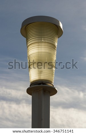 Outdoor Lighting Lamppost  - Streetlamp for outdoor lighting. With inverted conical design and frosted glass
