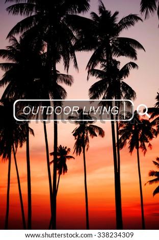 Outdoor Living Beach Enjoyment Summer Holiday Concept - stock photo