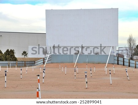 Outdoor Movie - stock photo