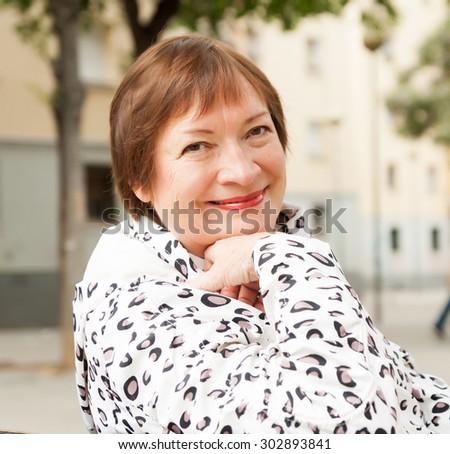 Teenage white european mature woman