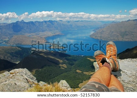 Outdoor relaxation - stock photo