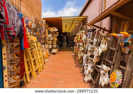 Outdoor shop in Santa Fe - stock photo