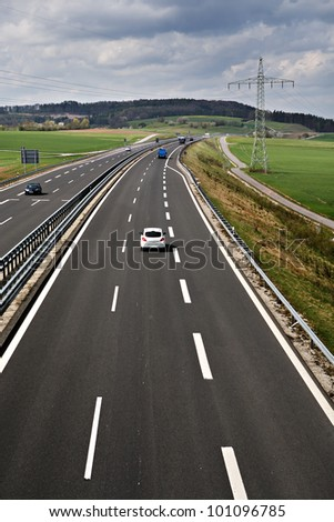 Outdoor shut of a stretch of motorway in Germany