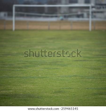 outdoor soccer goal  - stock photo