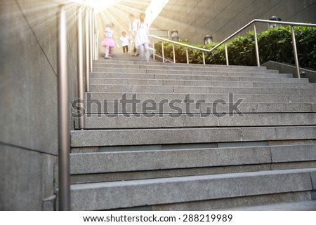 Outdoor stair building  - stock photo