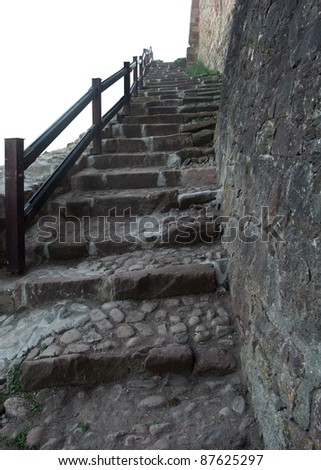 "outdoor stairways at the ""Hochburg Emmendingen"" in Southern Germany"