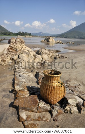 Outdoor Stone Creel Sand River Nature - stock photo