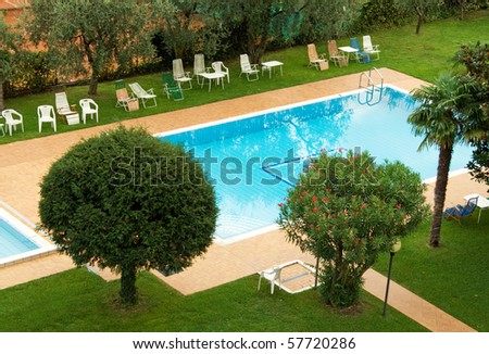 Outdoor swimming pool in beautiful surroundings