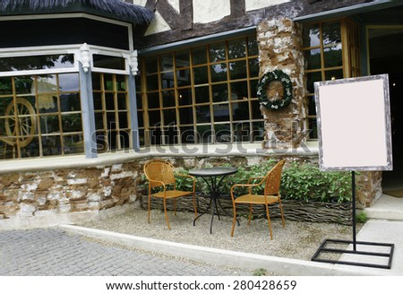 Outdoor table and chairs set - stock photo