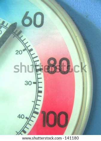 outdoor thermometer - stock photo