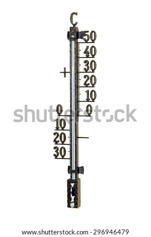 Outdoor Thermometer isolated on a white background / Thermometer - stock photo