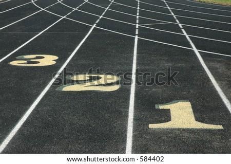 Outdoor Track - stock photo