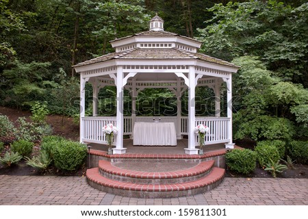 Outdoor Wedding Gazebo - stock photo