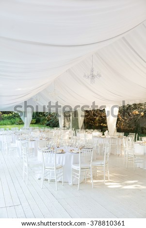 Outdoor wedding reception in tent & Wedding Tent Stock Images Royalty-Free Images u0026 Vectors ...
