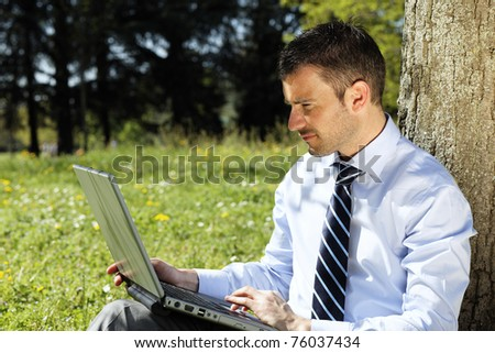 outdoor working - stock photo