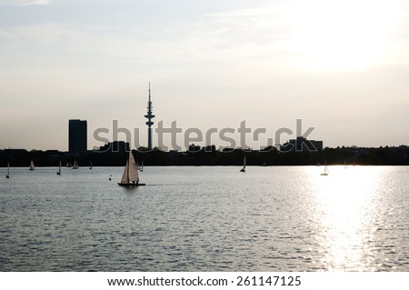Outer Alster Lake - Hamburg - Germany